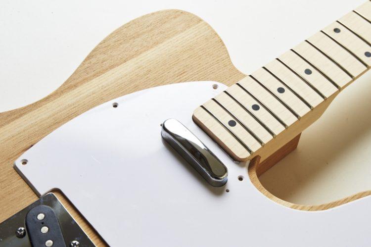 テレキャスタータイプ アッシュボディ組み立てキット【DIYギター自作キット】
